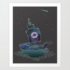 The Adventures Of The Space Ship! Art Print