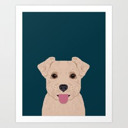 Blair - Norfolk Terrier gifts for dog lovers and pet owner gift ideas. Dog people gifts Art Print