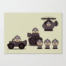 Grumpy Little Soldiers Military Art, Military Wall Art Canvas Print