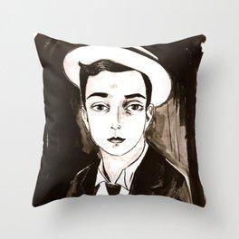 Buster Keaton per un'amica Throw Pillow