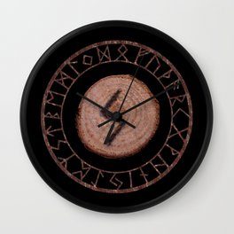 Sowilo Elder Futhark Rune Success, goals achieved, honor. The life-force, health, victory Wall Clock