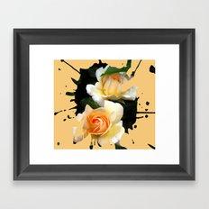 Rose Splashes Framed Art Print