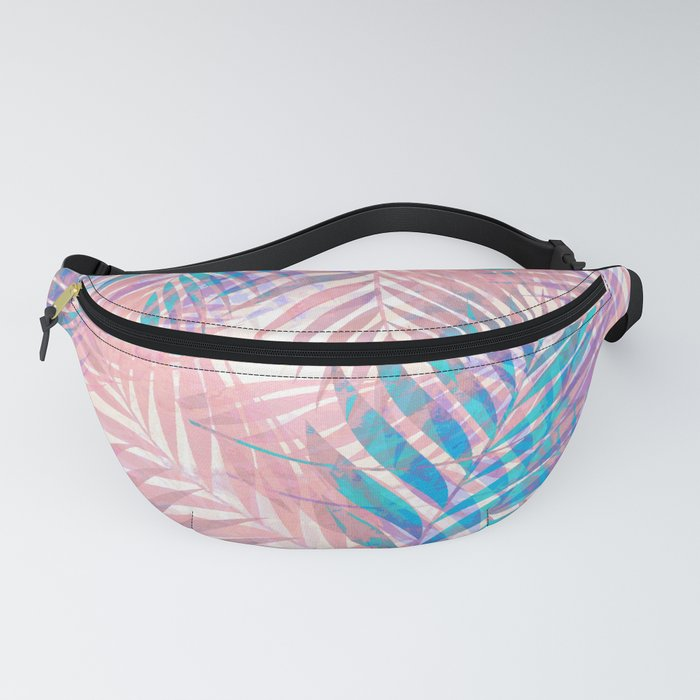 Palm Leaves - Iridescent Pastel Fanny Pack