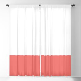 Dipped in Coral Blackout Curtain