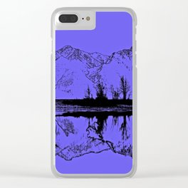 Knik River Mts. Pop Art - 1 Clear iPhone Case