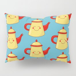 Tea pot smile Pillow Sham