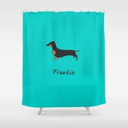 Frankie the Dachshund Shower Curtain