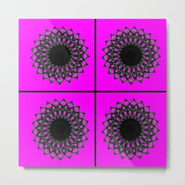 Graphic Design of Ombre Circle Kaleidoscope Metal Print