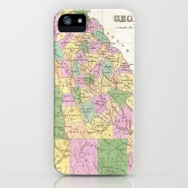 Vintage Map of Georgia (1827) iPhone Case