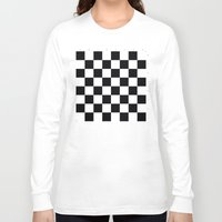 chess Long Sleeve T-shirts featuring Chess Game by erkki