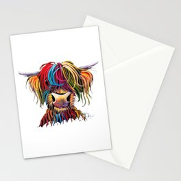 HiGHLaND CoW PRiNT SCoTTiSH ' NeLLY ' BY SHiRLeY MacARTHuR Stationery Cards