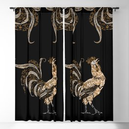 Le Coq Gaulois (The Gallic Rooster) Blackout Curtain