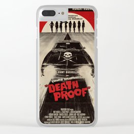 Death Proof Movie Poster Written And Directed By Quentin Tarantino Spanish Version Artwork, Posters, Clear iPhone Case