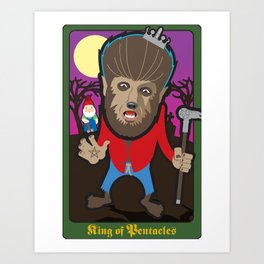King of Pentacles Art Print