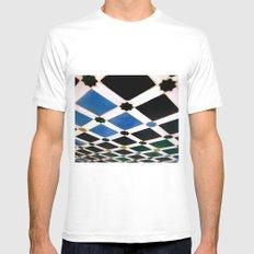 Geometric Love II MEDIUM White Mens Fitted Tee