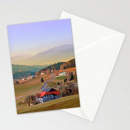Country road in amazing panorama | landscape photography Stationery Cards