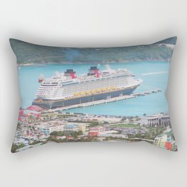 View of our ship Tortola Rectangular Pillow