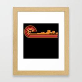 Retro Style Bethlehem Pennsylvania Skyline Framed Art Print