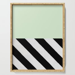PARALLEL_LINES_GREEN_MINT Serving Tray