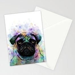 Funny Pug Dog 156 Stationery Cards