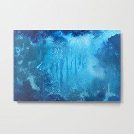 Ocean art, abstract ocean , Renewed Daily Metal Print