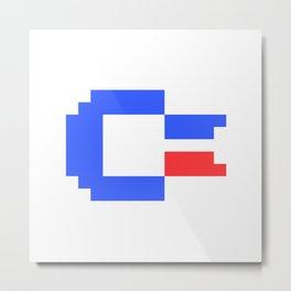 Pixel C64 Metal Print