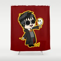 harry Shower Curtains featuring Harry by kaylieghkartoons