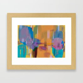 Conflict in the Void Framed Art Print