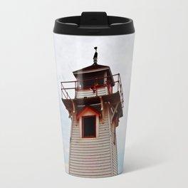 Lighthouse on Red Sands Travel Mug