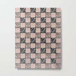 Blush Check Glitter Glam #2 #geometric #decor #art #society6 Metal Print