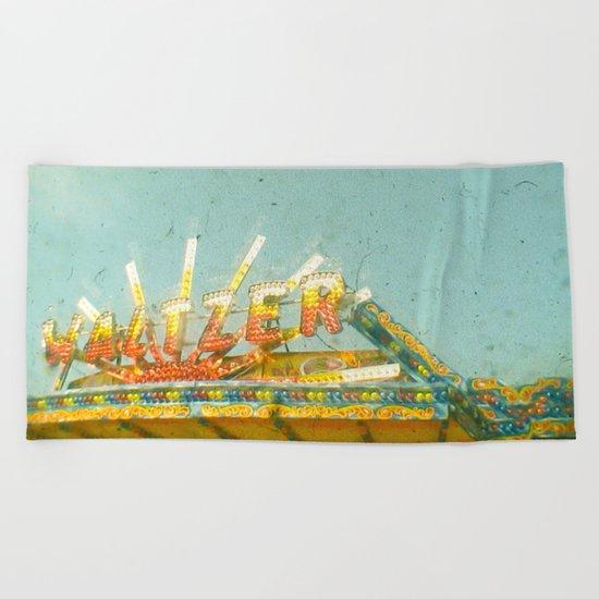 Let's Waltz Beach Towel