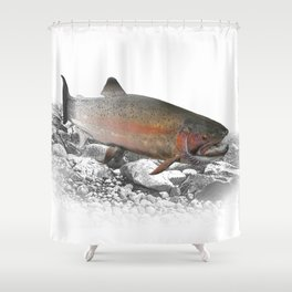 Migrating Steelhead Trout Shower Curtain