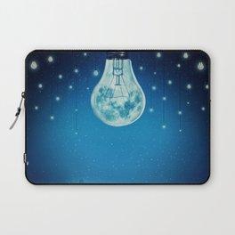 bulb moon night Laptop Sleeve