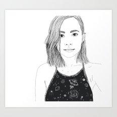 Hello, it's me. Art Print