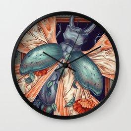 Moth Beetle Wall Clock
