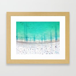Shadow's at Coogee Framed Art Print