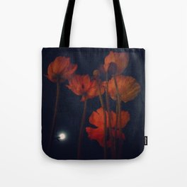 Moon and moonflowers Tote Bag