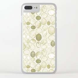 Honesty Flower Seed Grid in Green Clear iPhone Case