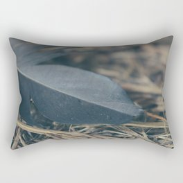 Black Feather Rectangular Pillow
