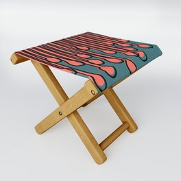 Running to you Living Coral Folding Stool