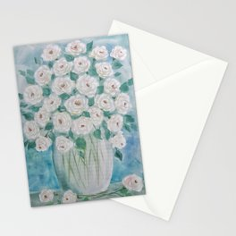 Send Me White Roses Stationery Cards