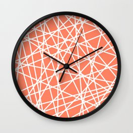 Lazer Dance Coral Wall Clock