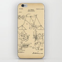 1902 Patent winter Bicycle Velocipede iPhone Skin