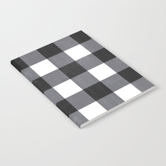 Gingham Dark Style Notebook