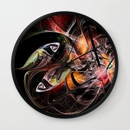 Fractal Zodiac - Pisces Wall Clock