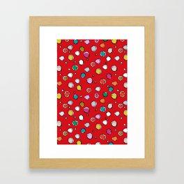 wilderdot red Framed Art Print