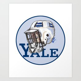 Yale Bulldogs Bucket Helmet Art Print