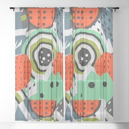 Fruity abstraction Sheer Curtain