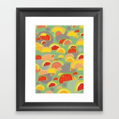 bright watermelons Framed Art Print