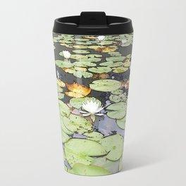 395 - Abstract Lily Pads Design Travel Mug